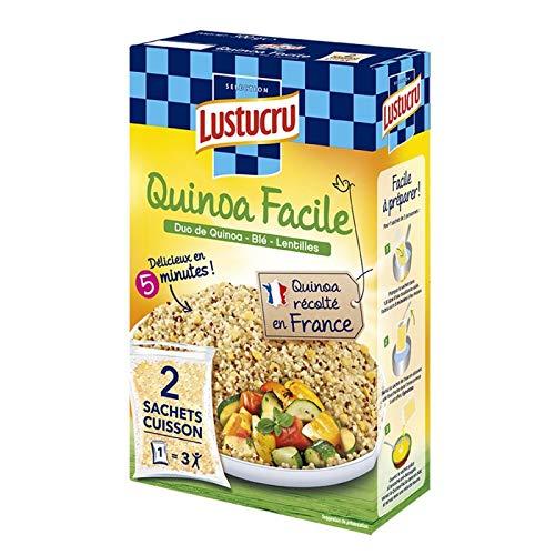 LUSTUCRU - Céréales Faciles Duo Quinoa 300G - Lot De 4 - Livraison Rapide En France - Prix Par Lot