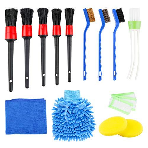 Juego de 14 cepillos para limpieza de coche, cepillo para limpieza de coches,...