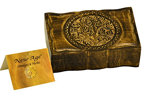 New Age Smudges and Herbs Wood Box Tree of Life 9' L X 6' W