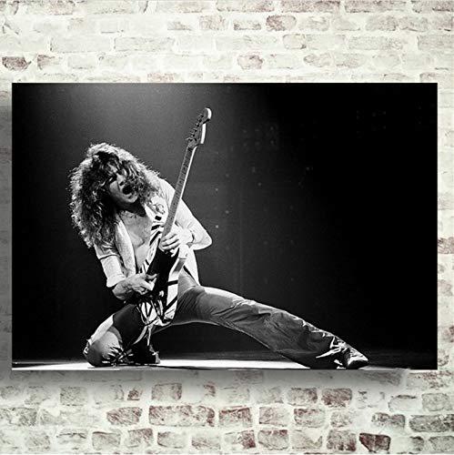 meilishop Druck Auf Leinwand Rahmenloses Gemälde Eddie Van Halen Kunst Leinwand Poster Gemälde Wohnzimmer Wohnkultur A300 (40X60Cm) Ohne Rahmen