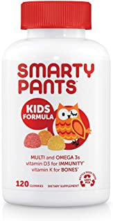 SmartyPants Kids Formula Daily Gummy Multivitamin: Vitamin C, D3, and Zinc for Immunity,..