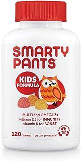 SmartyPants Kids Formula Daily Gummy Multivitamin: Vitamin C, D3, and Zinc for Immunity, Gluten...