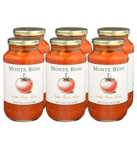 Monte Bene - La Vodka Pasta Sauce - 24oz (Pack of 6) - Gluten Free (Glass Jars)