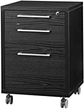 Tvilum Particle Board Prima Mobile File Drawer, 80418, Black Woodgrain, H68.2 x D48.2 x W49.1 cm, DIY Assembly