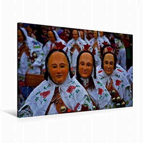 CALVENDO Premium Textil-Leinwand 120 cm x 80 cm quer, Gausnarr | Wandbild, Bild auf Keilrahmen, Fertigbild auf echter Leinwand, Leinwanddruck: der Narrenzunft Gosheim Menschen Menschen