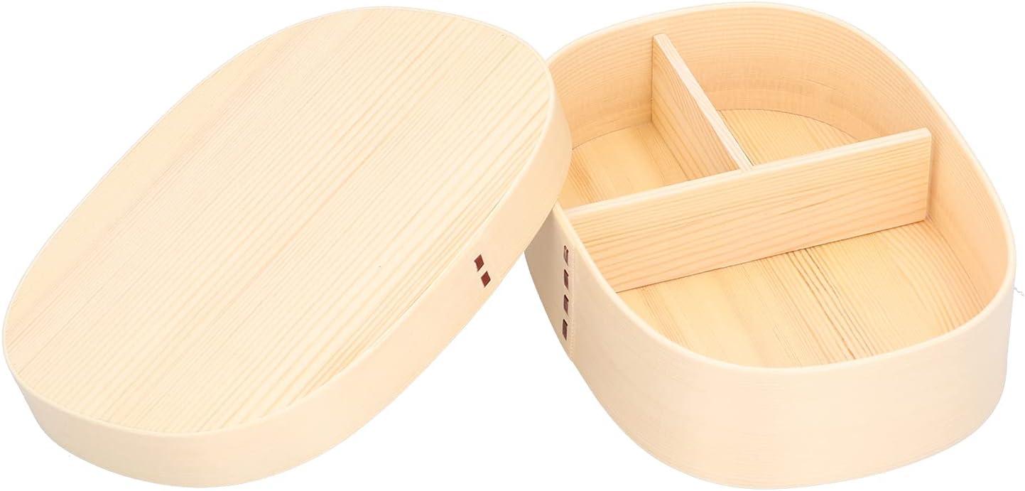 Fiambrera Bento, Portabl Fiambrera de madera Fiambrera para niños Fiambrera para adultos/niños Oficina Camping Picnics Viajes 1200ml