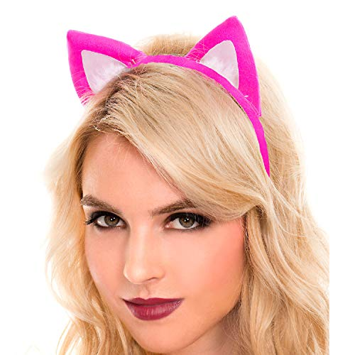 Music Legs Women's Cat Ears Headband, Hot Pink, One Size