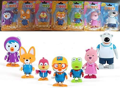 Korea Animation Pororo 7 Friends Figures Set Walking Dolls Collection Gift Toy