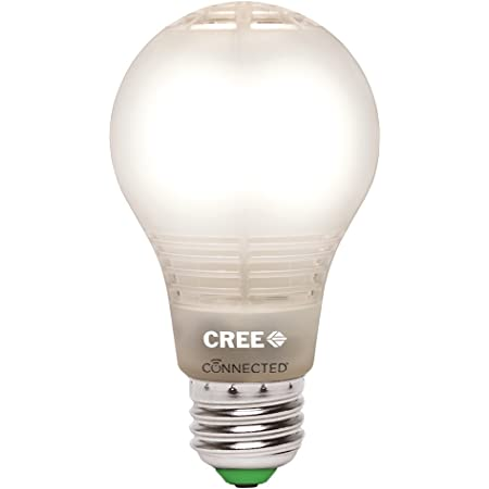 Cree Lighting BA19-08027OMF-12CE26-1C100 Cree Connected LED Smart Bulb, 1pk, Soft White