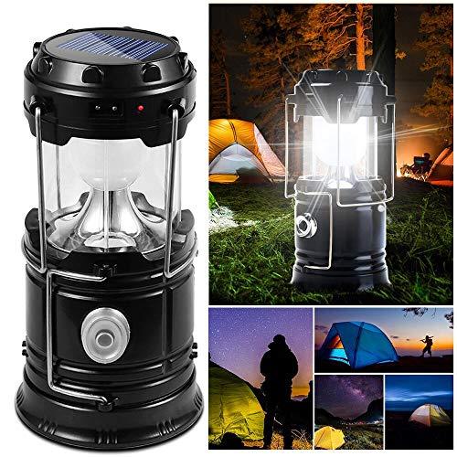 DAMIGRAM Lanterne de Camping Pliable, Extérieur Résistant à l'eau Portable Rechargeable Camping lumière par Port USB Lampe pour Extérieur Tente
