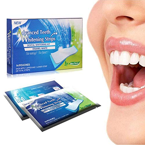 Teeth Whitening Strip White Whitener Strips Kits for Tooth Oral Care No Sensitivity - 14 Pack 28 Strips