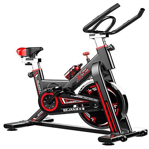 YANGSANJIN Indoor Exercise Bike Cycling Spin Bike, Cardio Workout W/Belt Driven Flywheel Cycling Adjustable Handlebars Seat Resistance Digital Monitor (Red) -  cccxlhh0159001039