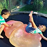 Vercico Kids Bubble Ball Toy 46.8'' Giant Inflatable Water Balls Soft Rubber Ball Jelly Balloon for Kids Outdoor Party (pink1)