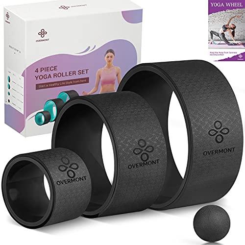 Overmont Ruota Yoga Set 3 Confezione Yoga Wheel in Schiuma Perfetti per Schiena Stretching...