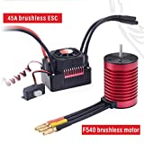 Waterproof Combo F540 3000 /4370KV Brushless Motor w / 45A ESC for 1/10 RC Car,    Motor + ESC Waterproof Set Suitable for Model Cars