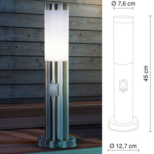 Außenlampenserie Edelstahl Außenleuchtung Gartenlampe Wegbeleuchtung Wandlampe Globo Boston, Artikelnummer:3158S