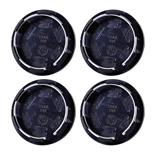 Patzbuch - Juego de 4 tapacubos universales de 50 mm, color negro