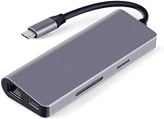 Portable Docking Station,Type c to hdmi Gigabit LAN expansion dock HUB notebook Multifunction converter usb-c docking stat...