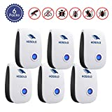 Ultrasonic Pest Repeller 6 Packs, 2019 Upgraded Electric Pest Control Repellent Indoor for Bed Bugs, Cockroach, Rat, Spider, Flea, Ant, Non-Toxic, Humans and Pets Safe