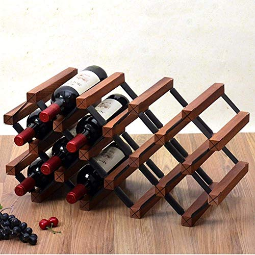 GUOCAO FENGFAN-Botellero de madera para botella de vino bodega