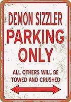 デーモンシズラー駐車場のみ 金属板ブリキ看板警告サイン注意サイン表示パネル情報サイン金属安全サイン