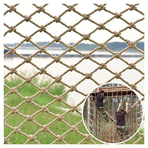 TGHY Red de Cuerda de Cáñamo Red de Escalada para Niños Red de Seguridad para Niños 12mm Red de Protección para Barandillas de Balcón Red Cultivo para Escalada Plantas Jardín,15cm,3 * 2M(10 * 7ft)