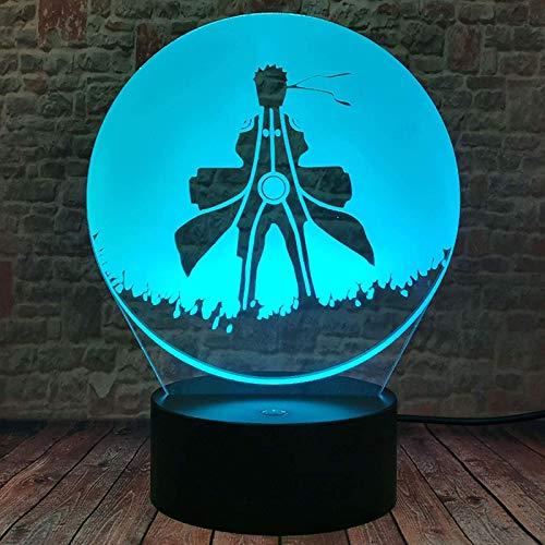 Cfxqvw Anime Naruto Naruto muñeca de Juguete movible 3D LED luz Nocturna 16 cumpleaños Adolescentes