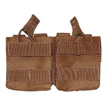 Condor Tactical Double M14 Open Top Magazine Mag Pouch  MOLLE Compatible   Coyote Brown