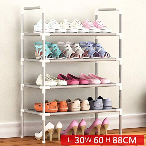 Zcm Zapatero Multi Capa Simple Zapatero no Tejidos Fácil Ensamble de Almacenamiento Estante metálico de pie Bricolaje Zapatos Mueble de la Sala de Muebles (Color : HH438100CS3)