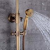 Sistema de ducha de latón con ducha de lluvia Rainshower, ducha de mano, ducha y bañera