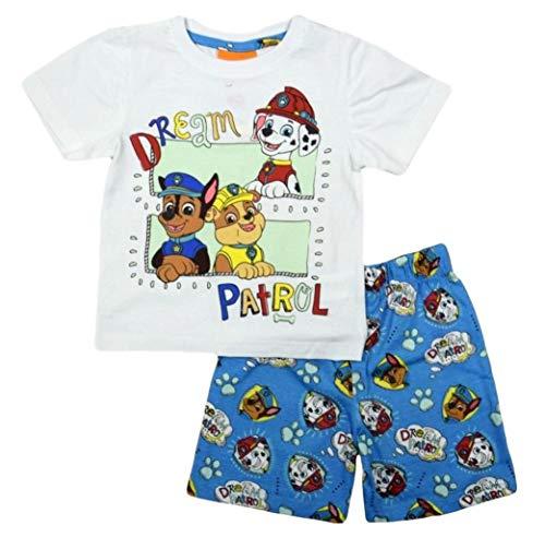 Paw Patrol Schlafanzug Kollektion 2018 Pyjama 92 98 104 110 116 122 Shortie Shorty Jungen Blau (Blau, 104-110)