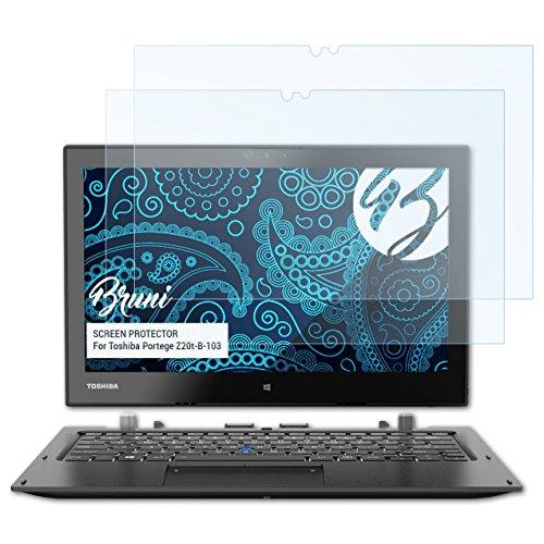 Bruni Schutzfolie kompatibel mit Toshiba Portege Z20t-B-103 Folie, glasklare Bildschirmschutzfolie (2X)