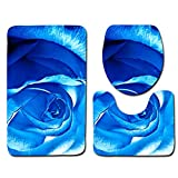 DREAMING-Alfombrilla de baño Rosa Alfombrilla de baño Inodoro Alfombra Antideslizante de Tres Piezas Alfombrilla para Puerta 50cm * 80cm