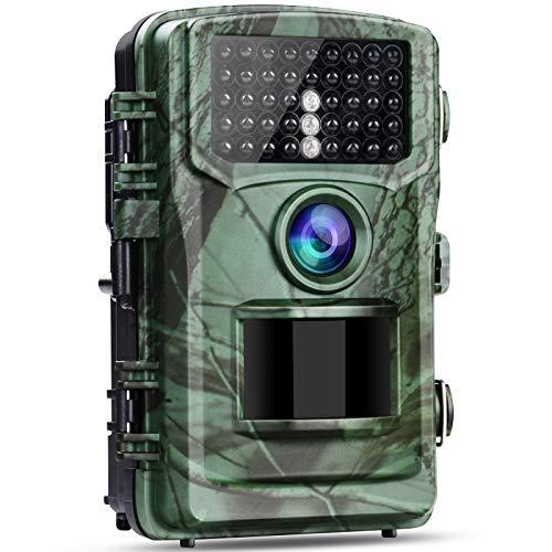 Wildlife Camera 4K 20MP Hunting Trail Camera, 120° Wildlife Monitoring Night Vision Motion Activated Game Cameras 2.0  LCD IP56 Waterproof