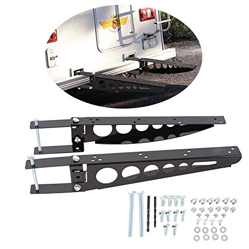 HECASA Bumper Mounted Cargo Box/Generator Tray Support Arms Compatible with RV 4 Inch Bumper