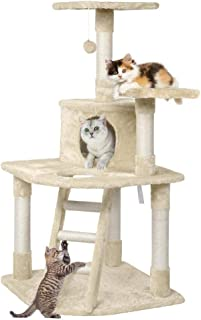 Yaheetech 48in Cat Tree Tower with Spacious Condo Cozy Platform and Replaceable Dangling Balls - coolthings.us