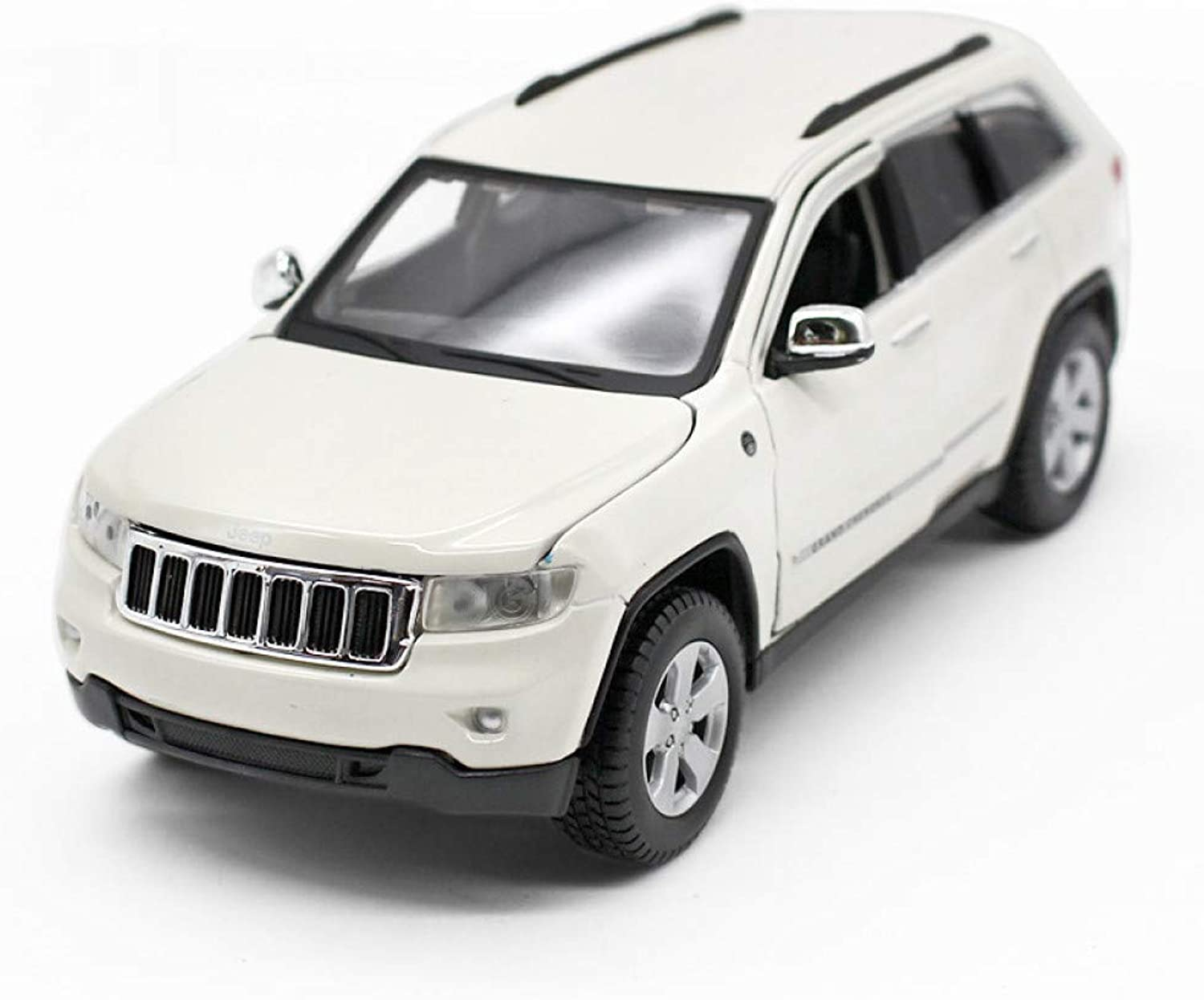 QAQW 1 24 Jeep Jeep Grand Cherokee White Alloy Car Model Collection Commemorative