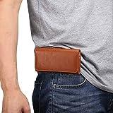 Holster de téléphone portable Ceinture en cuir Holster for iPhone 11 / XR, Ceinture en cuir de cas...