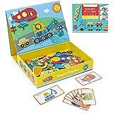 Puzzle Infantiles para Niños 3+ Años Juguetes de Madera Montessori Magneticos Rompecabezas de Coches Juegos Educativos Regalos para Niños Niñas 3 4 5 6 Años