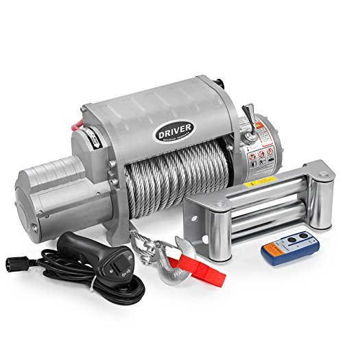 Driver Recovery Electric Recovery Winch - Heavy Duty 12,000 Pound Capacity - Wireless Remote Control - LD12-ELITE