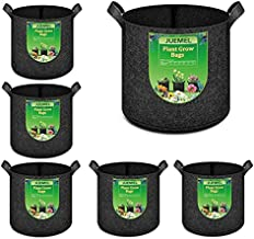 JUEMEL 6-Pack 2 Gallon Plant Grow Bags Heavy Duty Thickened Nonwoven Plant Fabric Pots with Handles