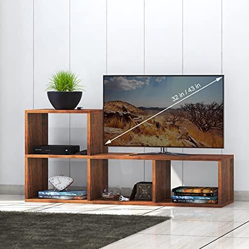 Klaxon Deacon Engineered Wood TV Unit/Display Storage Cabinet Rack with Decor Shelf (Walnut)
