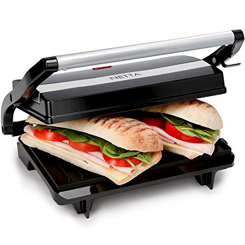NETTA Panini Sandwich Press, Toastie Maker, Electric Health Grill,...