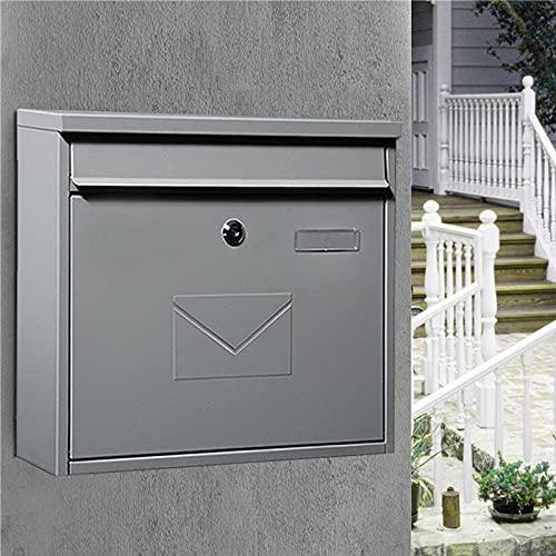 ZGHHTDTY Cartas y Correos Buzón de Exterior,Email De Seguridad Colgante, Clave De Pago De Depósito Y Entrega De Letras-Arena Gris