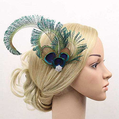 Peacock Feather Hair Clip Hat Ladies Day Ascot Race Wedding Party Accessories Wedding Hair Accessories Bridal Crown