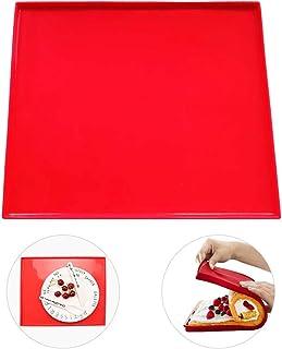 hangnuo pâtisseries Swiss Roll feuille de cuisson anti-adhésive en silicone 31,5 x 26,9 x 0,9 cm Rouge