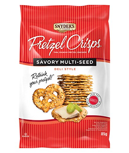 Snyders Pretzel Crisps Multi Seed 85 g (Pack of 8)