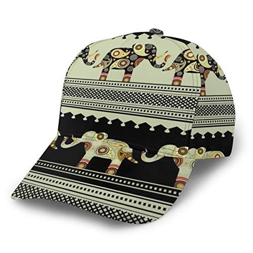 LilyNa Kappe Orientalisches Muster Mit Elefanten Baseball Cap