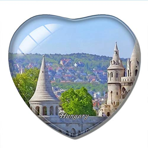'N/A' Hungría Imán Hungría Bastión de los Pescadores Budapest Imán de Nevera 3D Artesanía Recuerdo Cristal Refrigerador Imanes Colección Regalo de Viaje