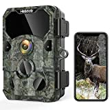 4K 30MP Trail Camera Game Camera, Helidallr Wireless Wi-fi Bluetooth Trail Cam with 120° Angle Game Cam 0.2S Triggle Clear Night Vision with 850nm 36pcs IR Lights 65ft IP66 Waterproof Wildlife Camera